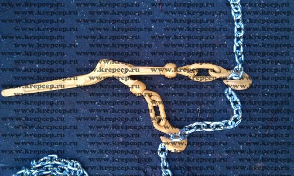 Рычаг для натягивания цепей (с резьбовой корректировкой силы натяжения)