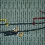 Стяжка цепная из крепежной цепи сталь 8 с храповой сцепкой-натяжителем со складывающейся ручкой