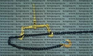 Стяжка цепи с трещеткой, цепь черная в масле класс ст.8